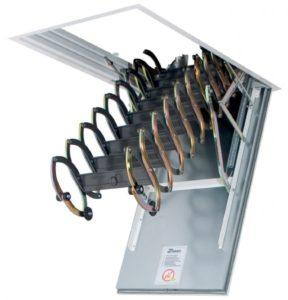 Металлическая огнестойкая чердачная лестница LSF (Fakro)