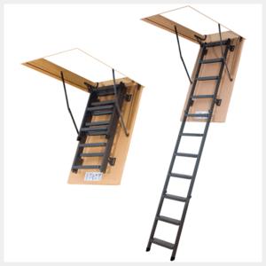 Складная металлическая чердачная лестница LMS (Fakro)
